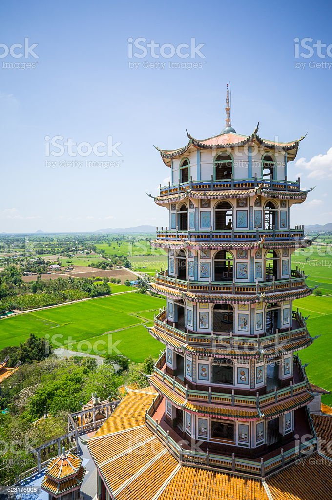 Tham Sue Temple stock photo