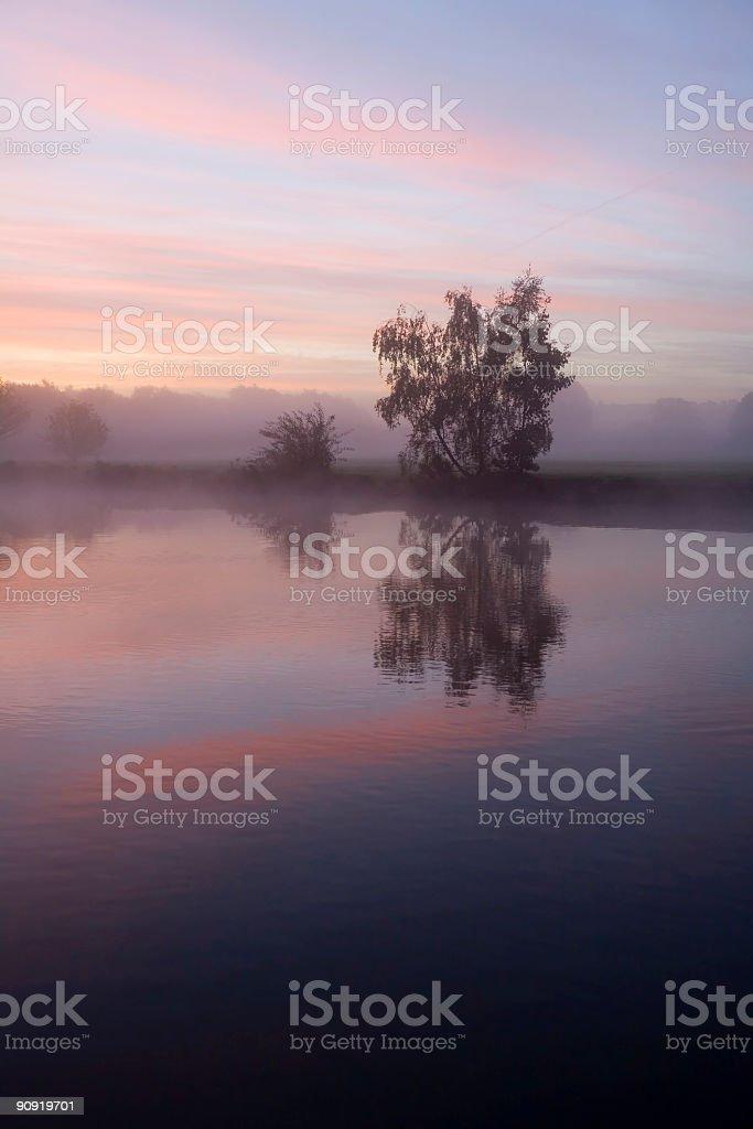 Thames at Sunrise stock photo