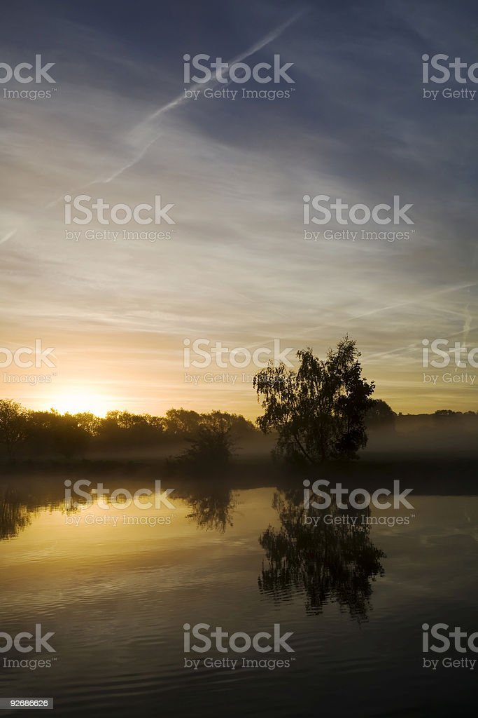 Thames at Sunrise royalty-free stock photo