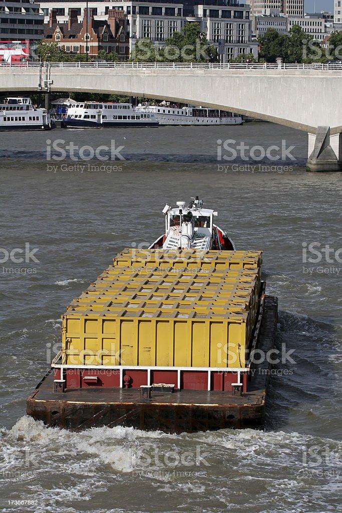 Thames Barge, London stock photo