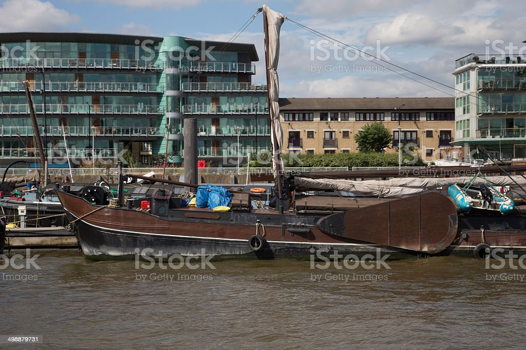 Thames Barge royalty-free stock photo