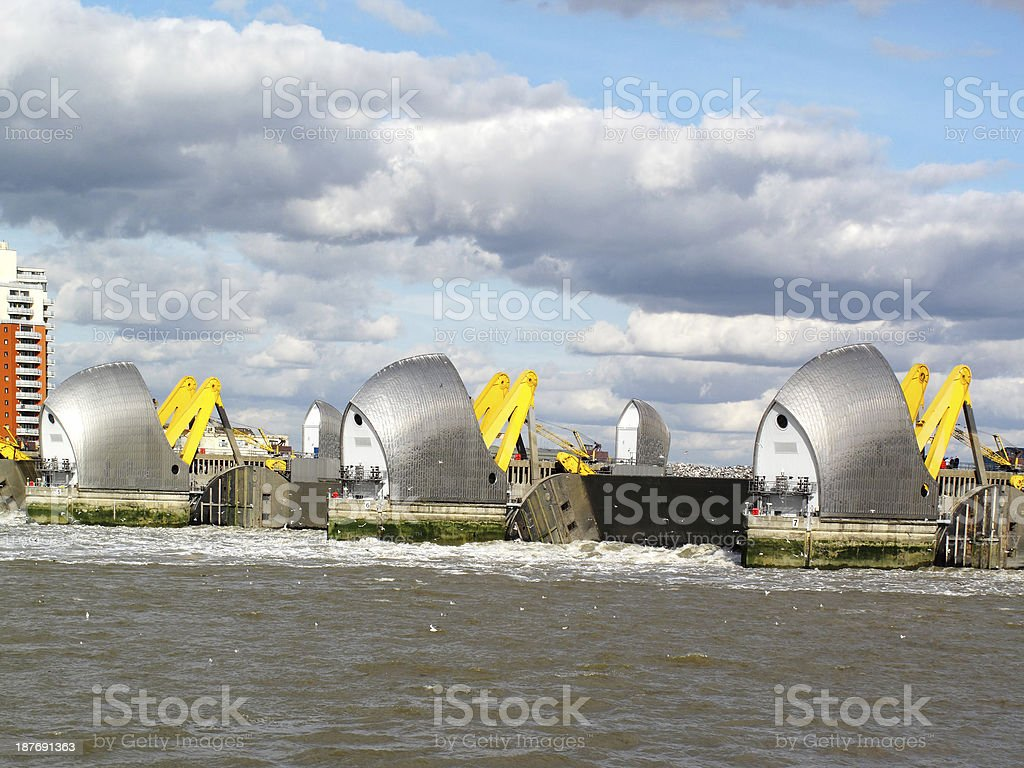 Thames Barrier Closing stock photo