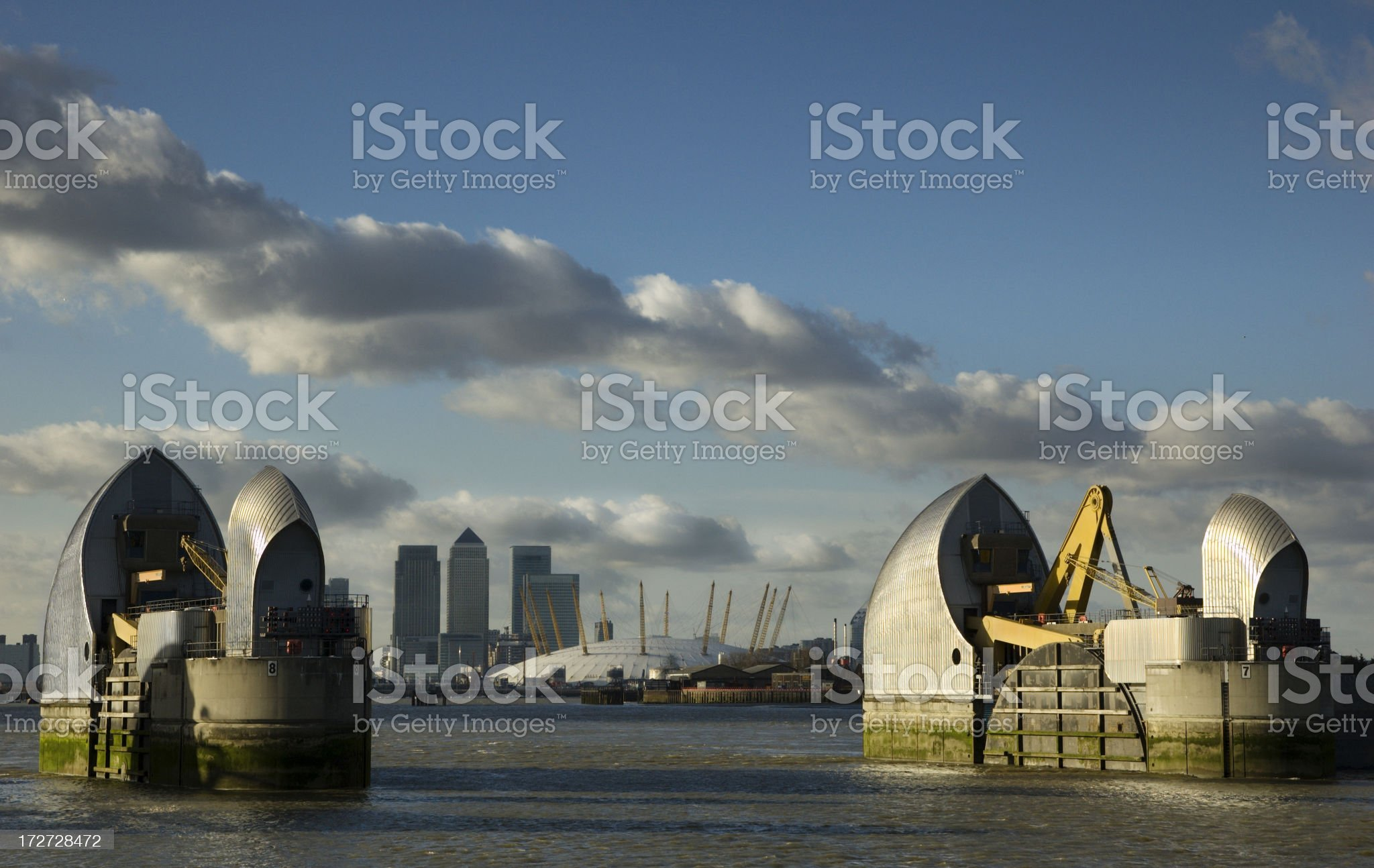 Thames barrier, London royalty-free stock photo