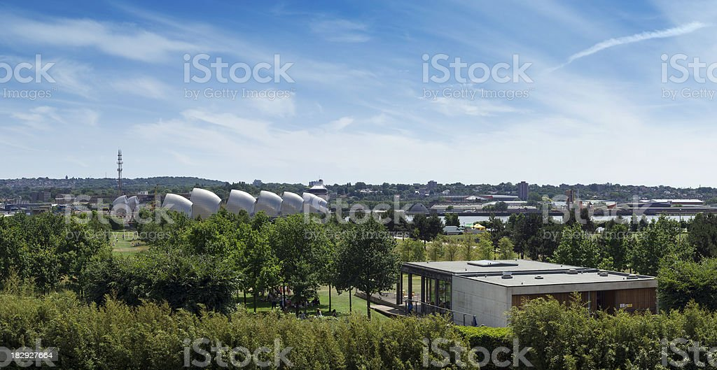 Thames Barrier Park, London royalty-free stock photo