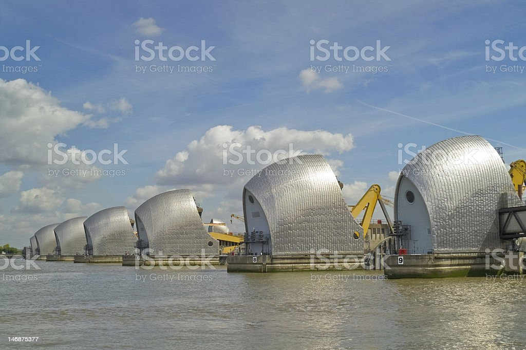 Thames Barrier royalty-free stock photo