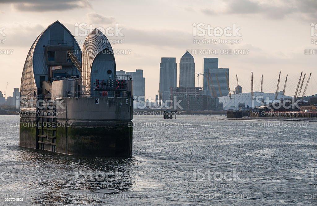 Thames Barrier stock photo