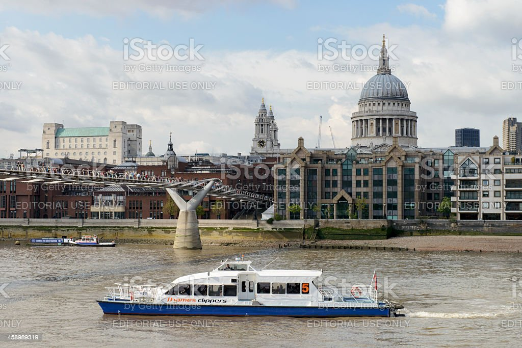 Thames Clippers service in Central London stock photo