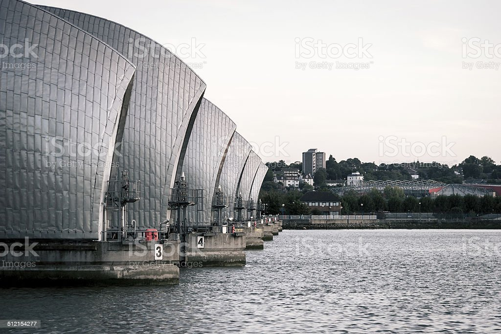 Thames Flood Barrier, London stock photo