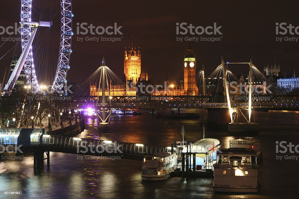 Thames Lights royalty-free stock photo