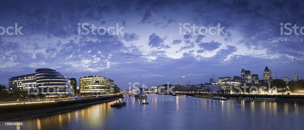Thames London Cityscape royalty-free stock photo