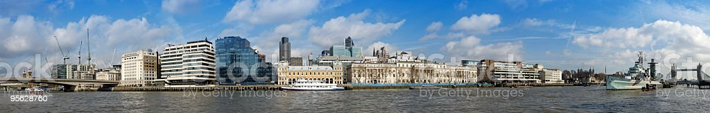 Thames panorama, london stock photo