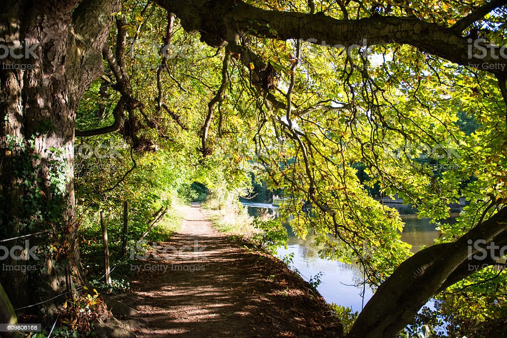 Thames Path at Goring stock photo