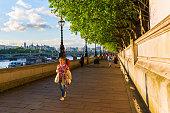 Thames promenade in London, UK