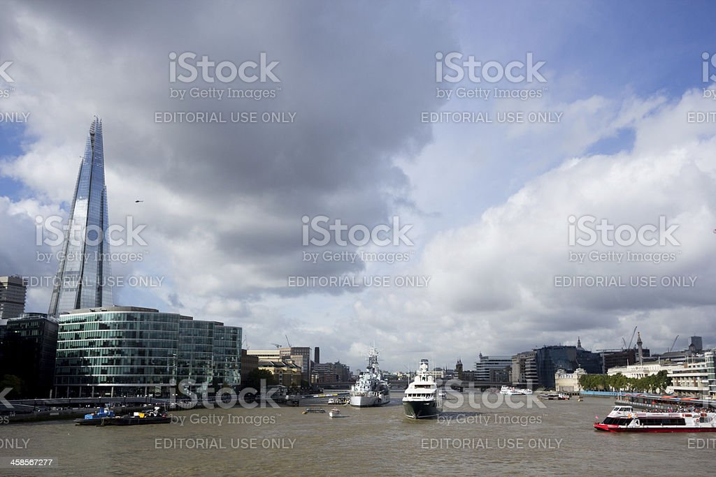 Thames River in London, England royalty-free stock photo