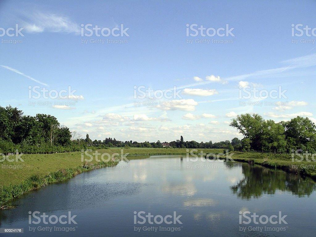Thames River near Windsor royalty-free stock photo