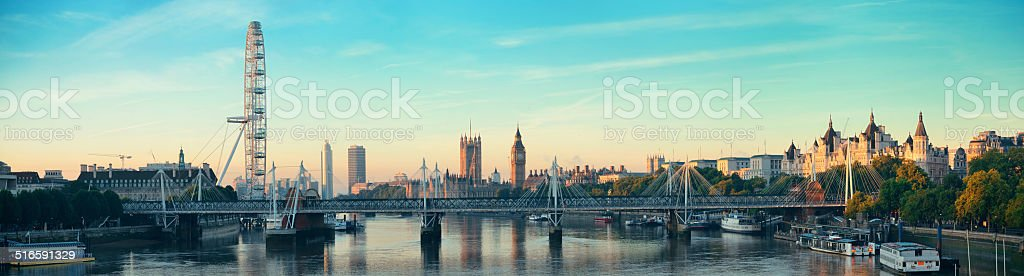 Thames River Panorama stock photo
