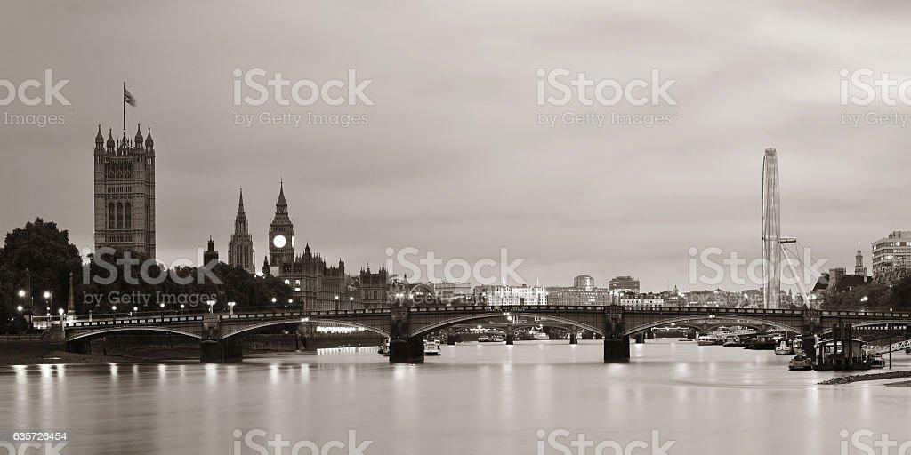 Thames River Panorama stock photo