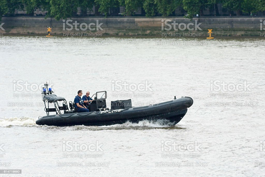 Thames River Police stock photo