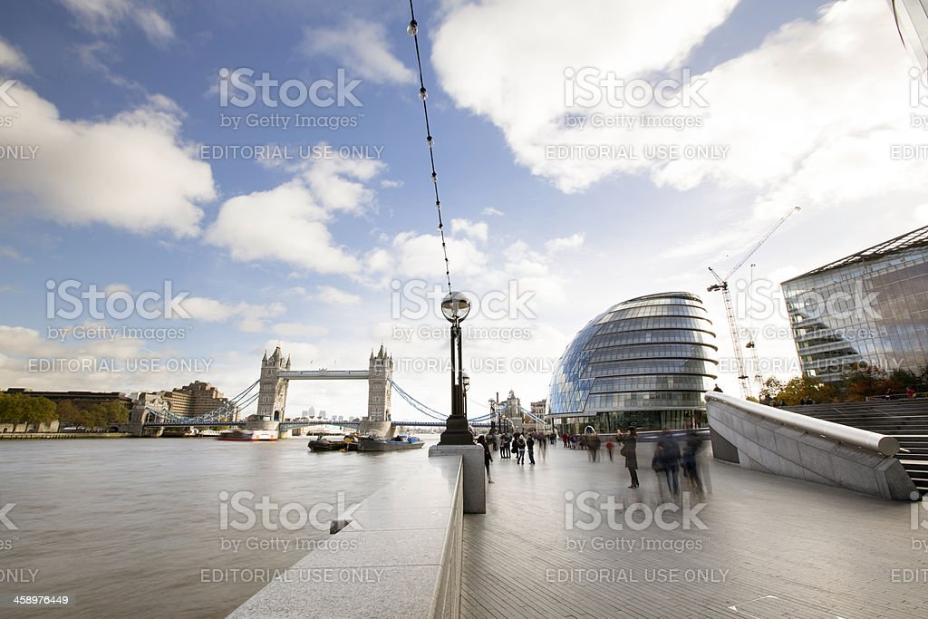 Thames River Side royalty-free stock photo