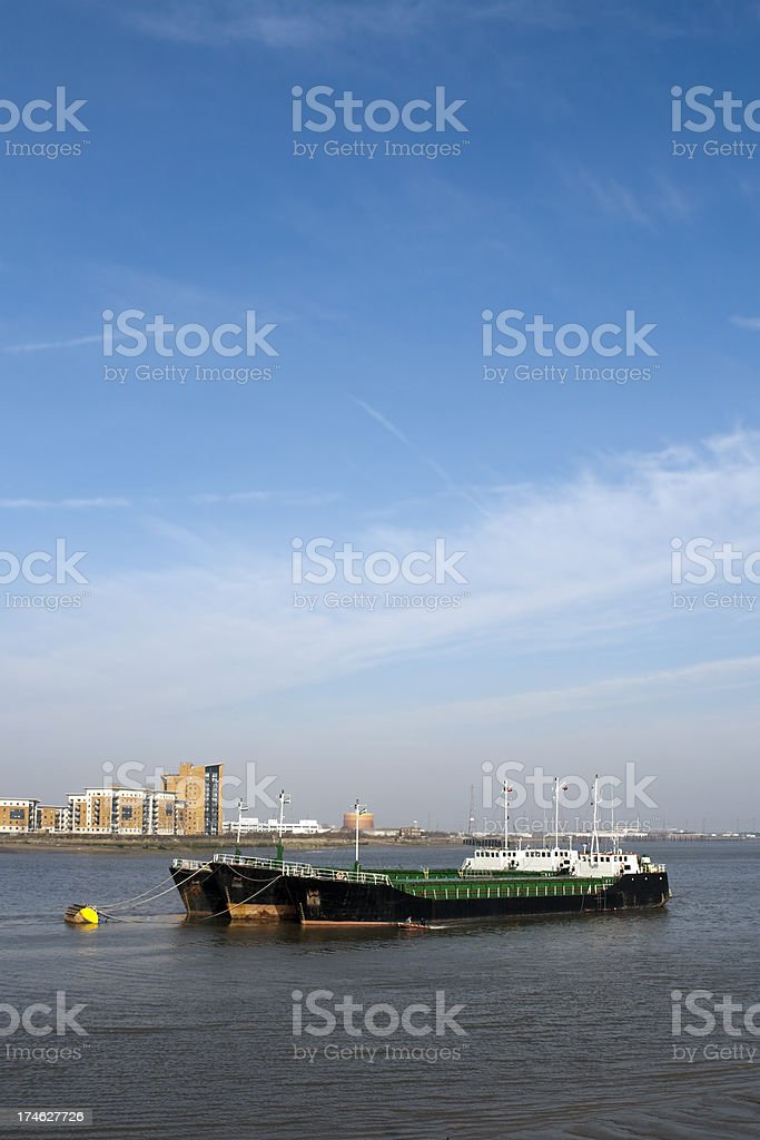 Thames shipping stock photo