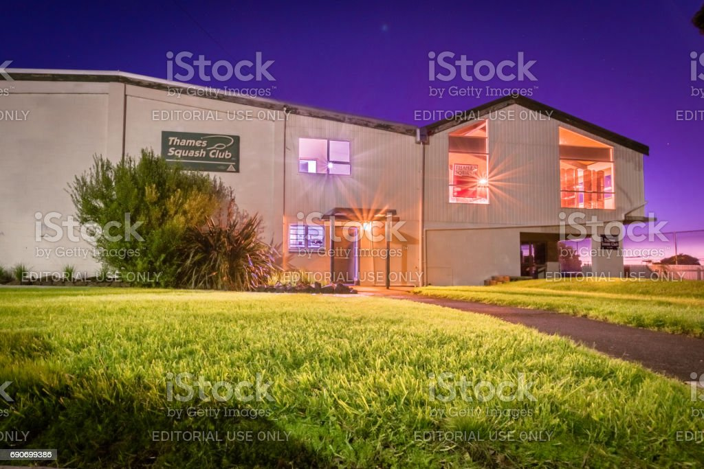 Thames Squash and Tennis Courts Building stock photo