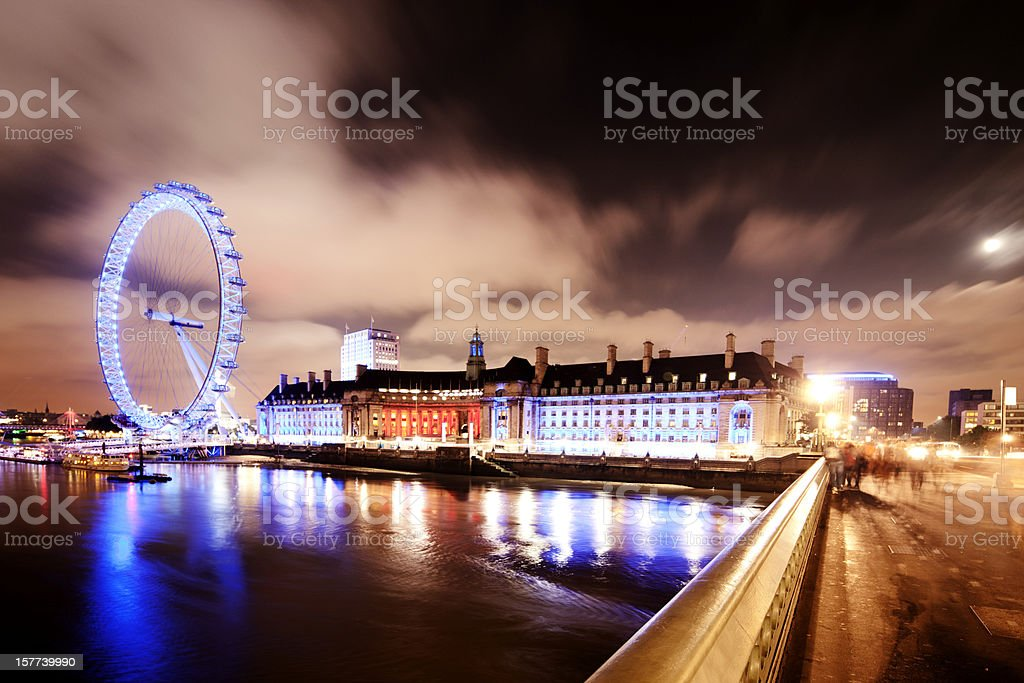 Thames view, Westminster Bridge stock photo