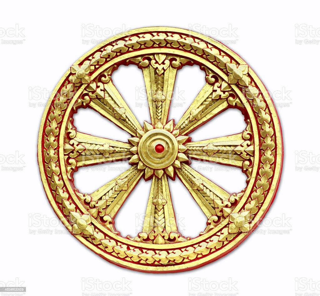 Thammachak wheel stock photo