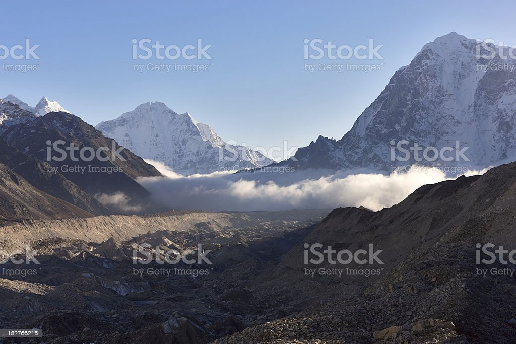 Thamserku. Everest Circuit. Nepal motives. royalty-free stock photo