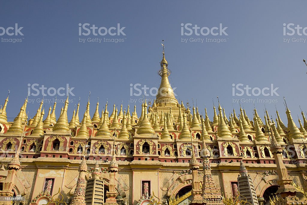 Thanboddhay Pagoda, Monywa, Myanmar stock photo