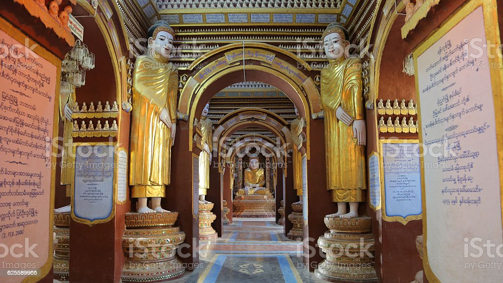 Thanboddhay Pagoda, Monywa. Myanmar stock photo