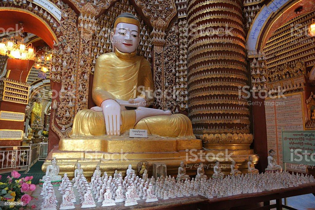Thanboddhay Pagoda, Monywa, Myanmar stock photo