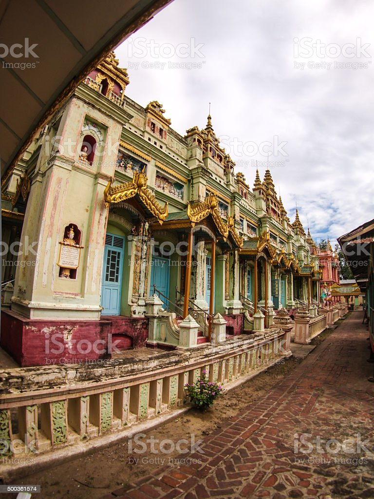 Thanboddhay Pagoda stock photo