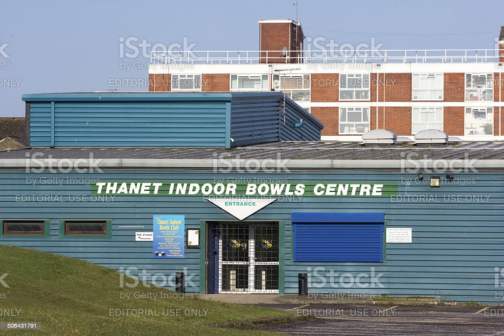 Thanet Indoor Bowls Centre in Margate, England royalty-free stock photo