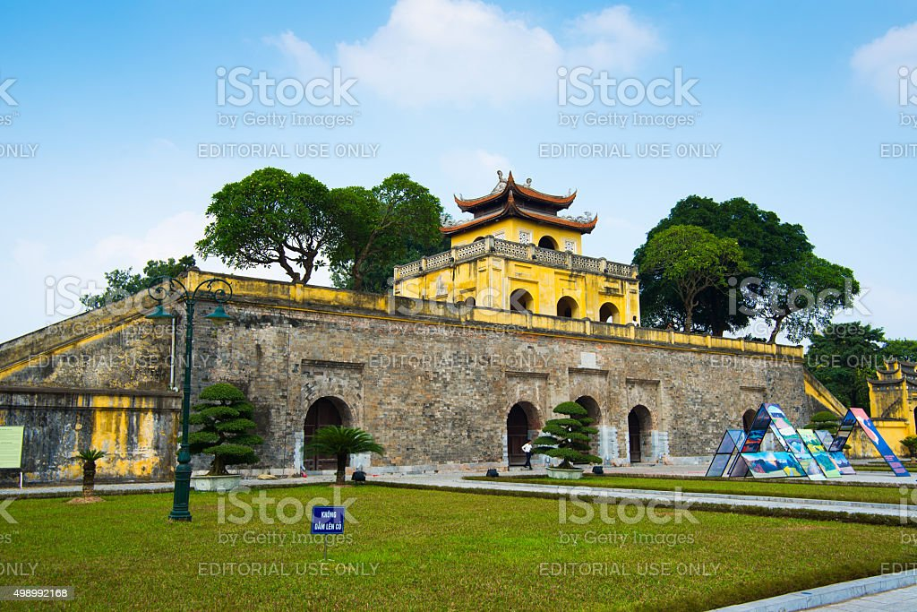 Thang Long Citadel Royal in Ha Noi, Viet Nam. stock photo