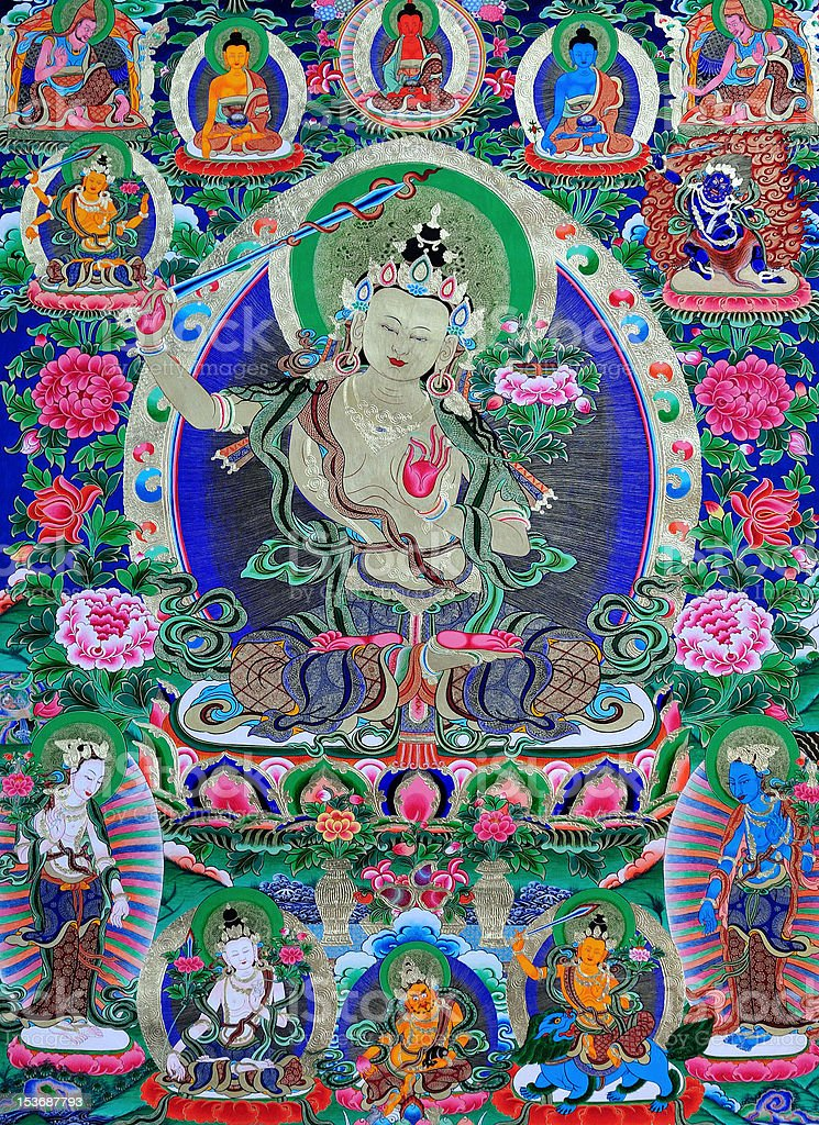 thangka stock photo