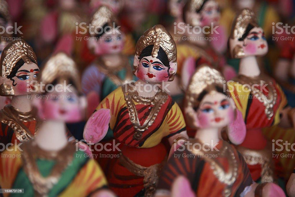 Thanjavur dolls stock photo