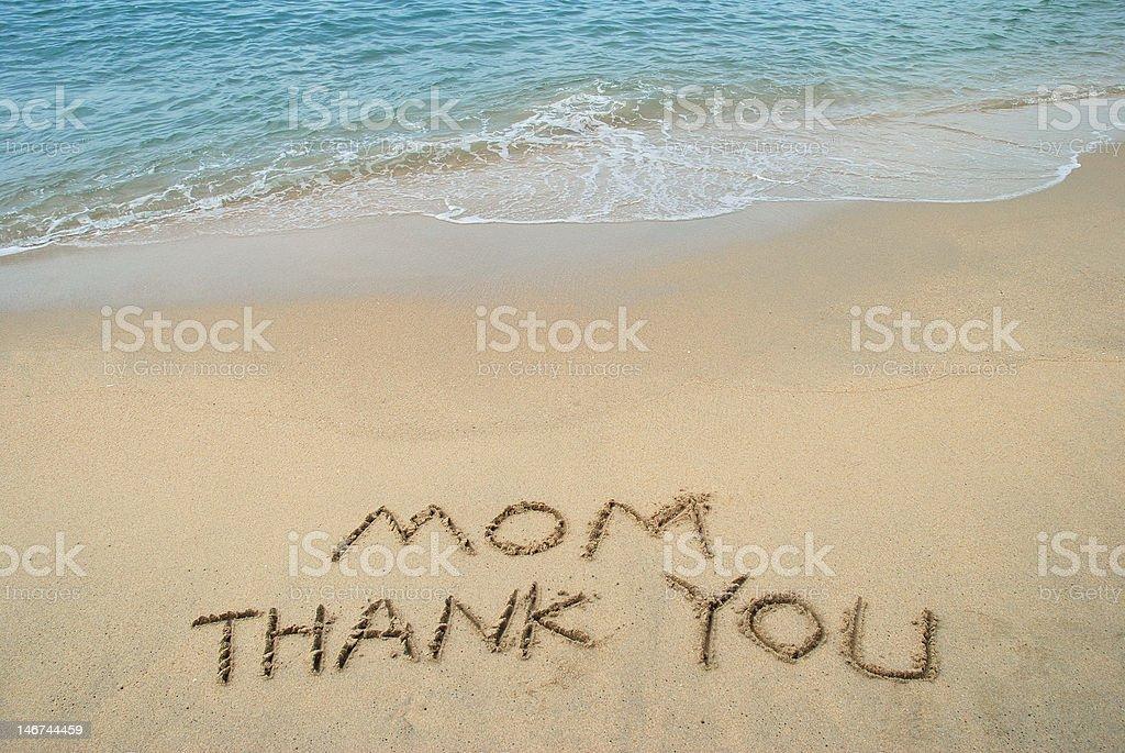Thank Mom royalty-free stock photo