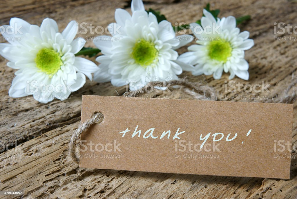 Thank you background stock photo