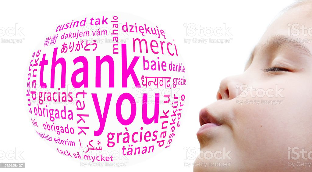 Thank you Bubble stock photo
