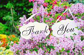 Thank you decoration boards in flowers