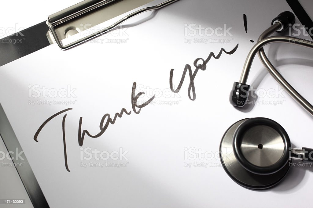 Thank You Doctor stock photo