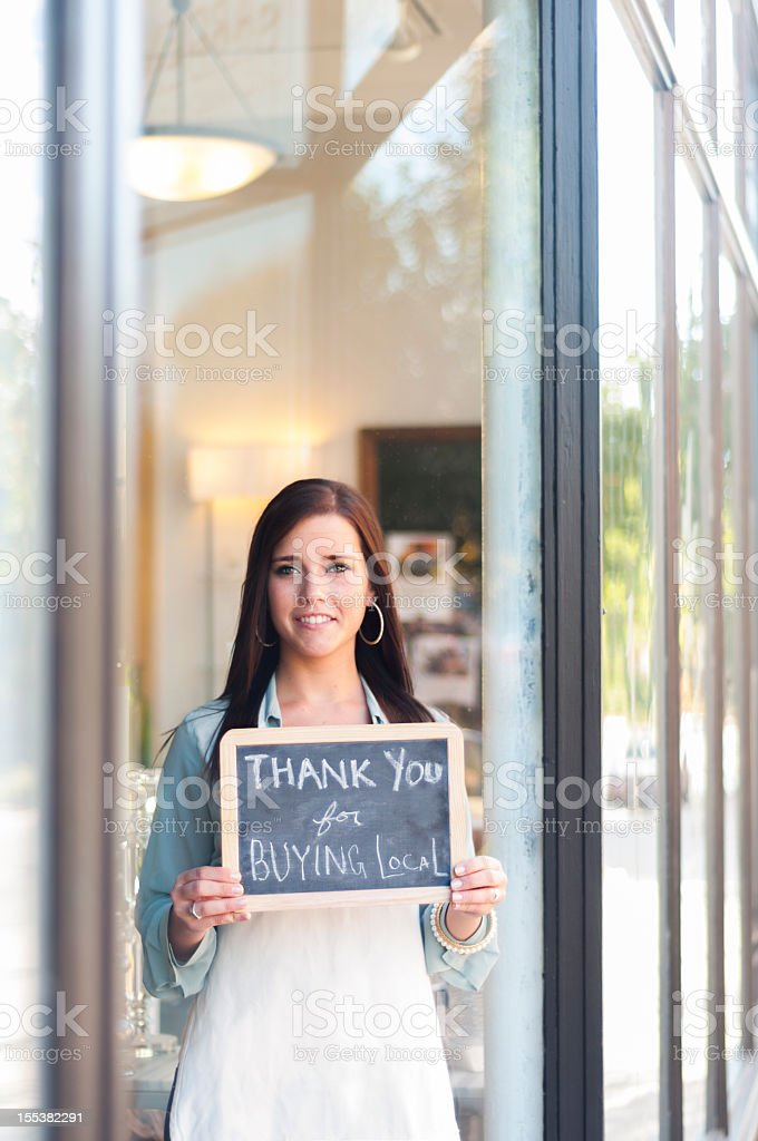 Thank you for buying local royalty-free stock photo