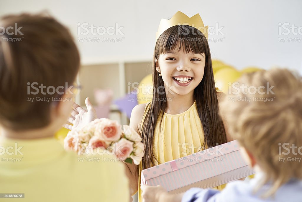 Thank you for gifts royalty-free stock photo