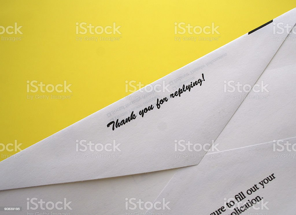 Thank you for replying! stock photo