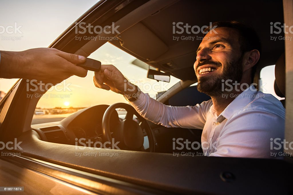 Thank you for the car keys! stock photo