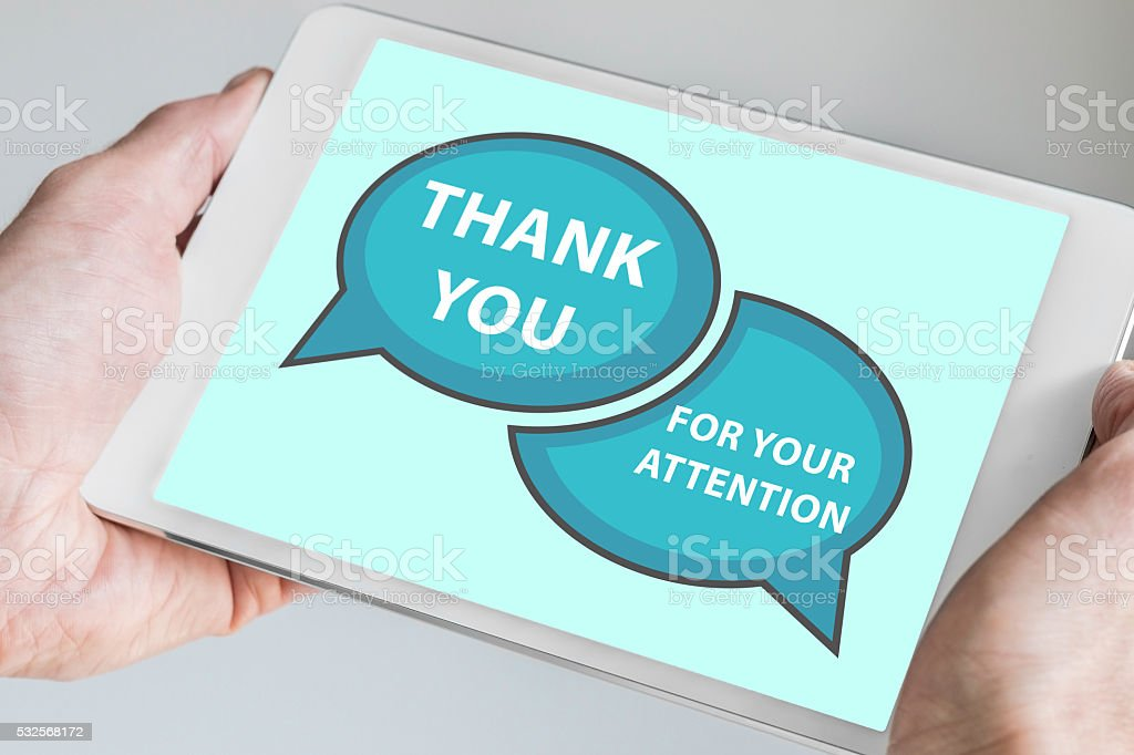 Thank you for your attention concept stock photo
