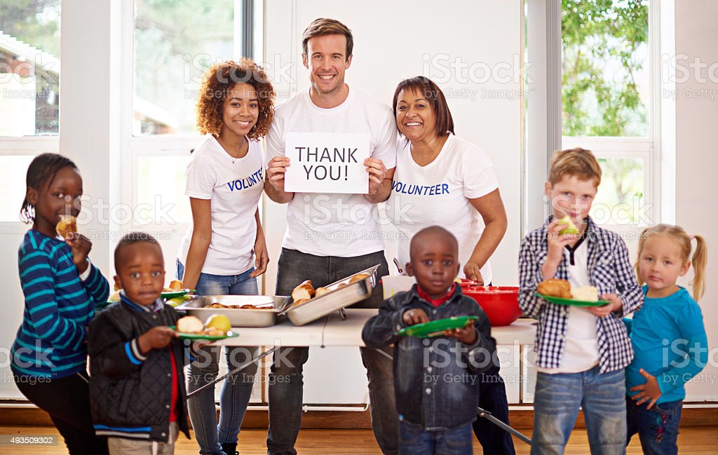 Thank you for your generosity stock photo