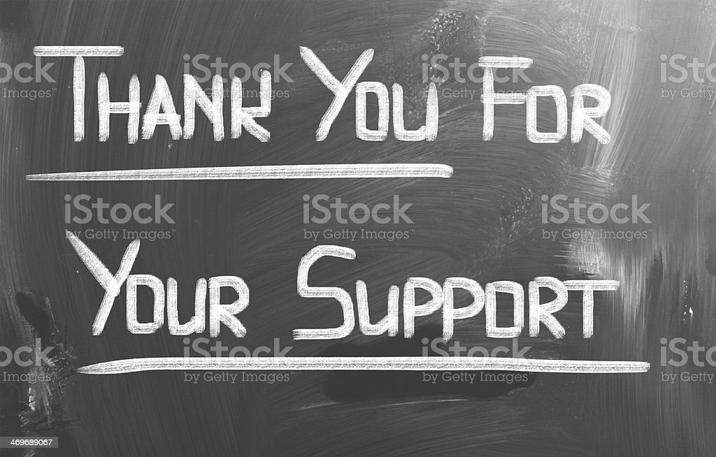Thank You For Your Support Concept stock photo