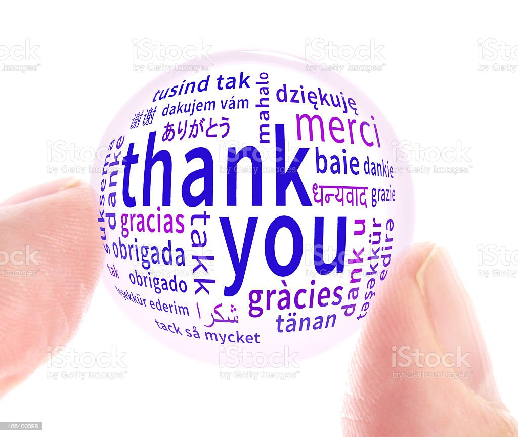 Thank you glass stock photo