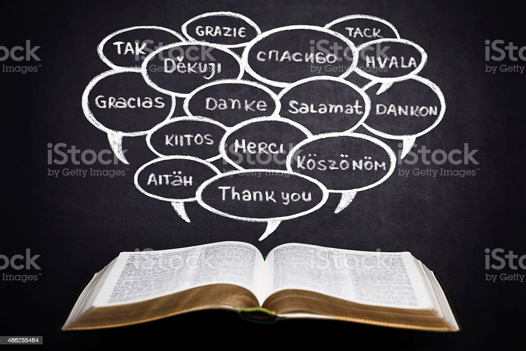 Thank You in Different Languages stock photo